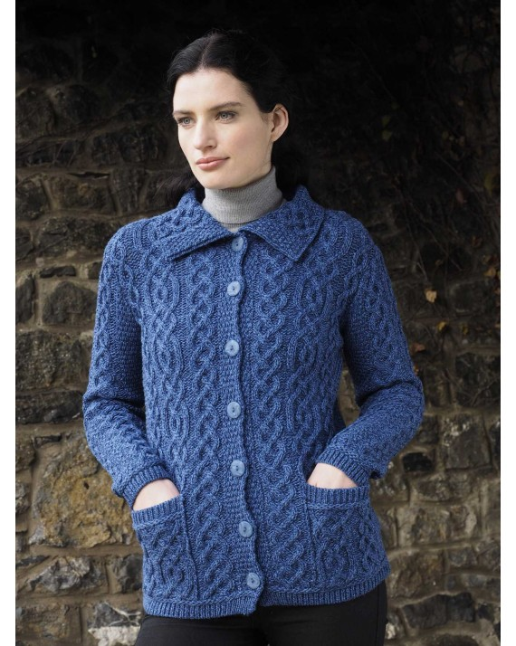 Buttoned Collar Cardigan X4801 Aran Islands Sweaters