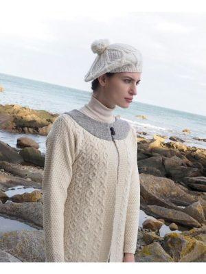 38c18f08361 SHAMROCK MERINO WOOL SCARF - Aran Islands Sweaters